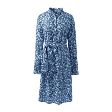 Gemustertes Kleid mit Stehkragen