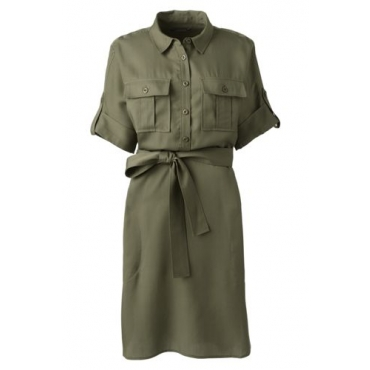 Hemdblusenkleid im Worker-Stil