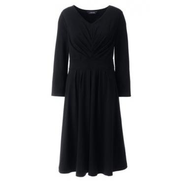 Jerseykleid mit gerafftem Ausschnitt