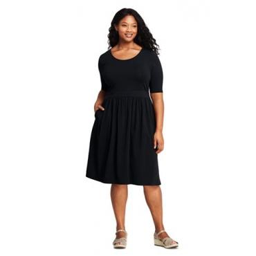 Jerseykleid mit halblangen Ärmeln  in großen Größen