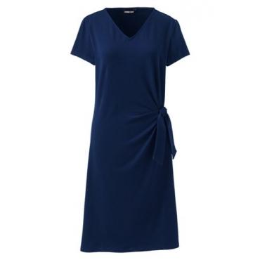 Jerseykleid mit Knoten-Detail  in großen Größen