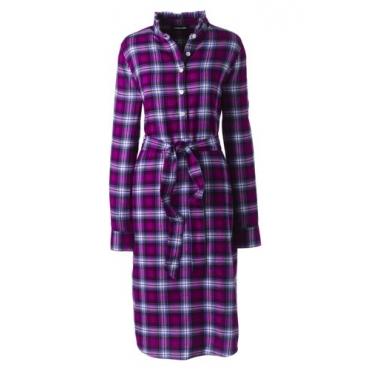 Kariertes Kleid mit Stehkragen