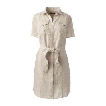 Leinen-Hemdblusenkleid im Worker-Stil