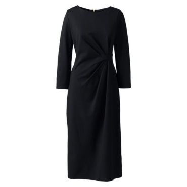 Ponté-Kleid mit geraffter Taille  in großen Größen