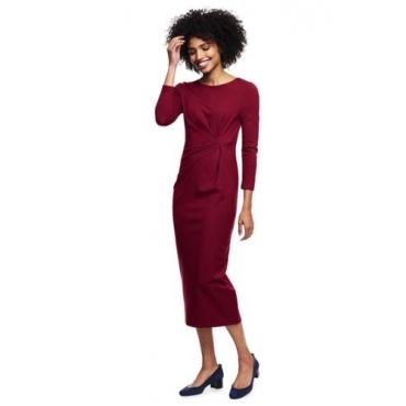 Ponté-Kleid mit geraffter Taille