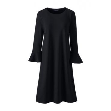 Ponté-Kleid mit Volant-Ärmeln  in großen Größen