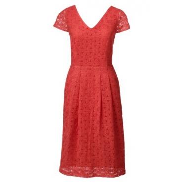 Stickerei-Kleid mit angeschnittenen Ärmeln