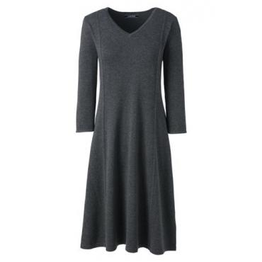 Tailliertes Supima Feinstrick-Kleid  in großen Größen