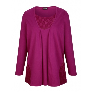 2-in-1 Shirt MIAMODA Fuchsia