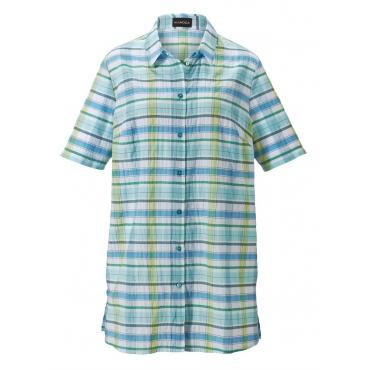 Bluse MIAMODA Blau::Grün::Weiß