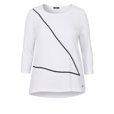Cleanes Shirt mit Zierdruck Frapp WHITE