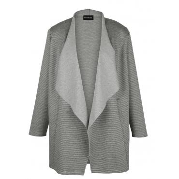 Jacke MIAMODA grey/stripe