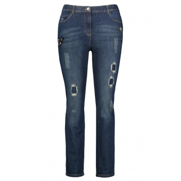 Jeans mit Applikationen, Betty Jeans Samoon Ozean-Melange
