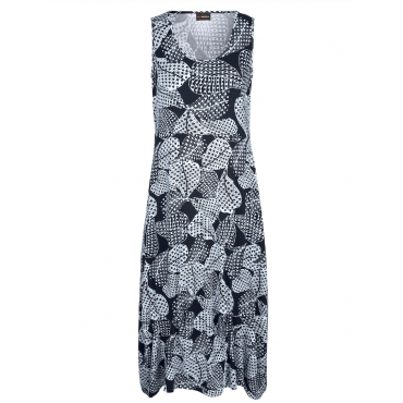 Jerseykleid MIAMODA Marineblau::Weiß