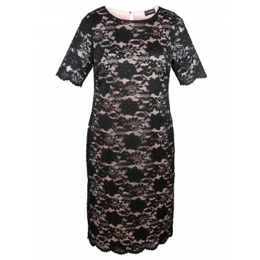 Kleid MIAMODA schwarz/rose