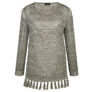 Pullover MIAMODA khaki/melange