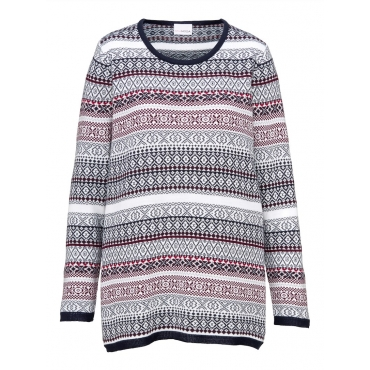 Pullover MIAMODA marine/weiß/rot