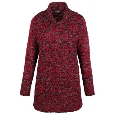 Pullover MIAMODA rot/schwarz meliert