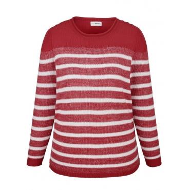 Pullover MIAMODA Rot::Weiß