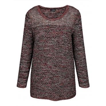 Pullover MIAMODA schwarz/rot-melange