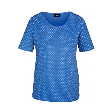Shirt MIAMODA Blau::Weiß