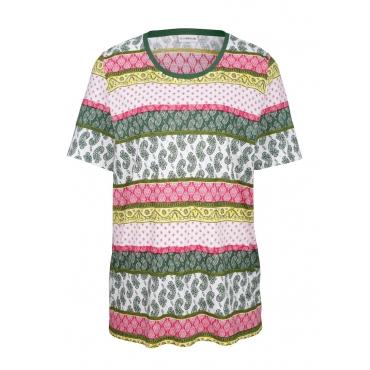 Shirt MIAMODA Grün::Rot::Gelb