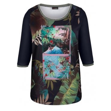 Shirt MIAMODA Grün::Schwarz