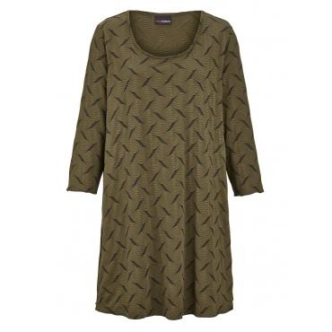 Shirt MIAMODA Khaki::Schwarz