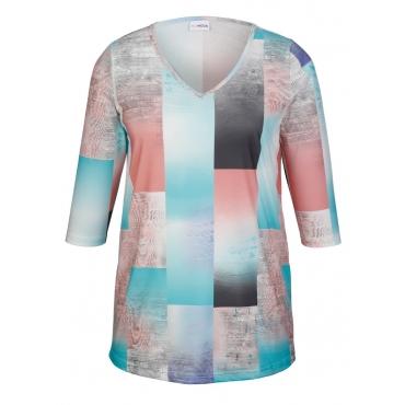 Shirt MIAMODA Mintgrün::Hellorange