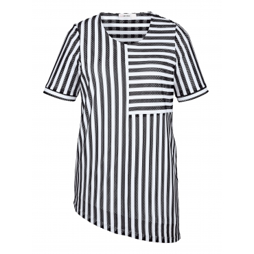 Shirt MIAMODA Schwarz::Weiß