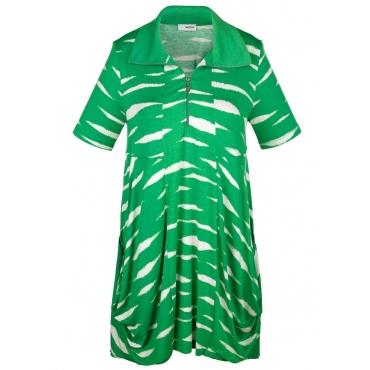 Shirtkleid MIAMODA grün/weiß