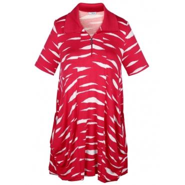 Shirtkleid MIAMODA rot/weiß
