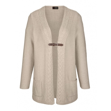Strickjacke MIAMODA Beige