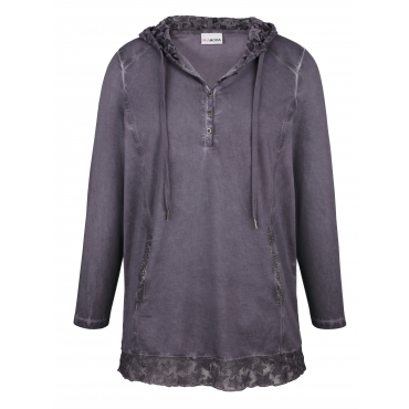 Sweatshirt MIAMODA Lila