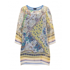 2-in-1-Chiffonshirt mit Allover-Print