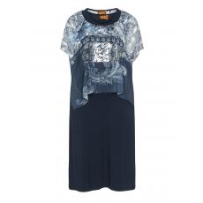 2-in-1-Kleid mit Chiffonüberwurf