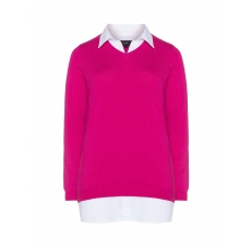 2-in-1-Pullover mit Hemdkragen