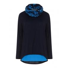 2-in-1-Pullover mit Schal