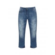 3/4-Jeanshose mit Destroyed-Effekten