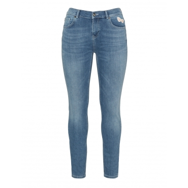 5-Pocket-Jeans mit Patches