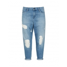 7/8-Boyfriend Jeans in Used-Optik