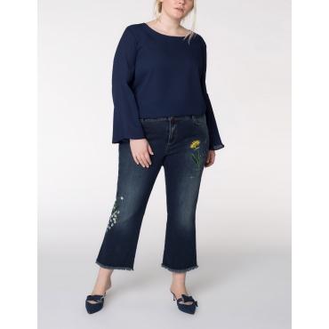 7/8-Jeans mit Stickerei