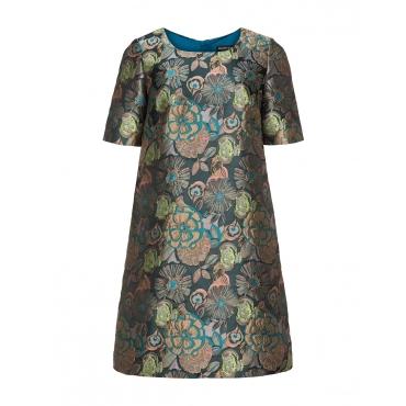 A-Linien-Kleid Kim aus floralem Jacquard