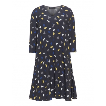 A-Linien-Kleid mit Allover-Grafik-Print