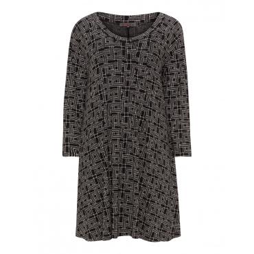 A-Linien-Kleid mit Allover-Print