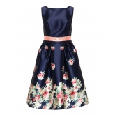 A-Linien-Kleid mit Blumen-Print am Rock