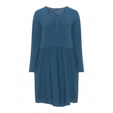 A-Linien-Kleid mit Serafinoausschnitt