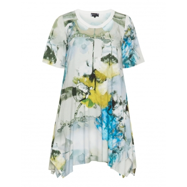 A-Linien-Shirt mit Allover-Print