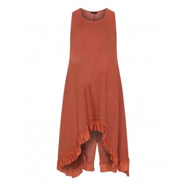 Ärmelloses Kleid mit High-Low-Saum