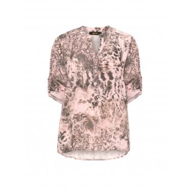 Allover-Print-Bluse